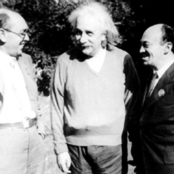 Itzik Fefer, Albert Einstein and Solomon Mikhoels