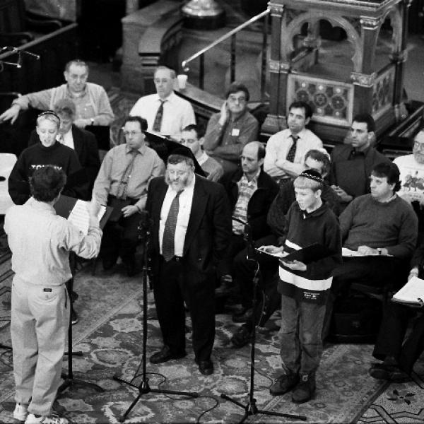 Neil Levin, Cantor Benzion Miller and the London Synagogue Singers