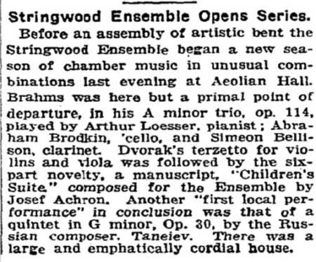Stringwood NYTimes 1925