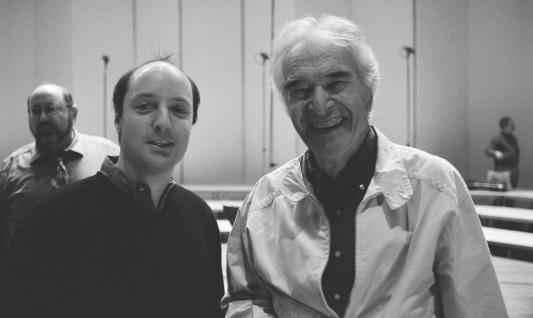 Producer David Frost with composer Dave Brubeck